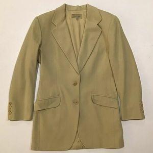 Vintage Calvin Klein Mossy Wool Blazer Jacket Sz 4